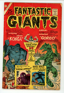 JERRY WEIST ESTATE: FANTASTIC GIANTS #24 (Charlton 1966) NO RES! All Ditko!