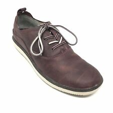 Women's Merrell Around Town Casual Shoes Sneakers Size 8.5 B Burgundy Leather F4