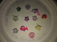 3D Ocean Life, Dolphin, Crab & More Lot Of 11 Crocs Shoe,Bracelet Charms,Jibbitz