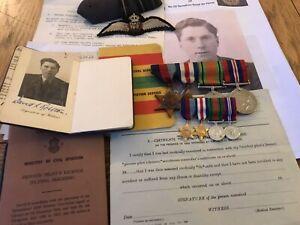 Original WW2 RAF Lancaster Pilot Medal Group Rolston