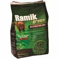 RAMIK  116339 4 LB BAG NUGGETS GREEN RAT MICE  Mouse BAIT POISON FISH FLAVORED