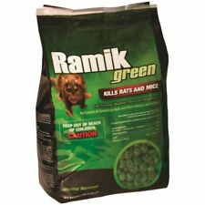 RAMIK Green 4 lb Mini-Chunk Nugget Mouse Rat Bait Poison Fish Flavor LOWESTPRICE