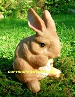 NEW RUBBER LATEX MOULD MOULDS MOLD MAKE SMALL CEMENT GARDEN RABBIT BUNNY #B