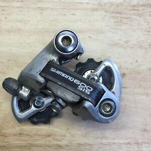 VINTAGE SHIMANO 600EX SIS BICYCLE SHORT CAGE REAR DERAILLEUR RD-6208 6-SPD
