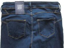 New Womens Marks & Spencer Blue Sculpt Lift Slimboot Jeans Size 18 Short DEFECTS