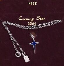 Evening Star Vintage Emmons Signed Necklace Enamel pendant Silver New Card G69