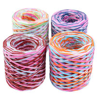 1Pc 200 Meters Craft Natural Wrapping Paper Twine Rope Gift Packing Ribbon YAN