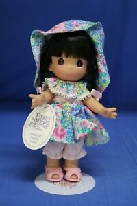 """Precious Moments Garden of Friends Black Hair 7"""" Doll 2106 with Stand"""