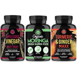 Apple Cider Vinegar w. Beet Root, Moringa, Turmeric Ginger Combo for Weight Loss