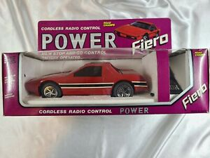 1986 FIERO CORDLESS RADIO CONTROL POWER ROAD CHAMPS EXCELLENT MINT IN BOX NR!