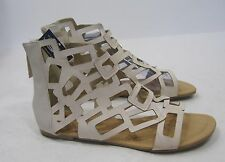 Summer off white  open toe NEW WOMEN FASHION roman Gladiator SANDALS  SIZE  7