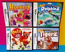 Petz Dolphinz, Hamsterz Life, Dogz, TIgerz -  Game Lot Nintendo DS Lite 3DS 2DS