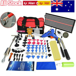 PDR Tool Dent Puller Lifter Car Paintless Hail Removal LED Line Board Repair Kit