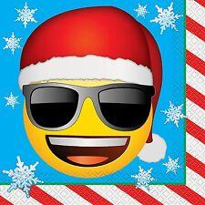 Emoji Christmas Paper Party Napkins, 16 Count