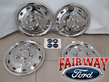 "15 thru 18 Ford Transit OEM 16"" Stainless Rim Wheel Covers Simulators Caps SRW"