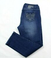 One 5 One Women's Jeans Skinny Boot Cut Embellished Stretch Denim Size 10