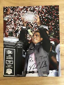 Nick Saban 8x10 National Championship Autographed picture