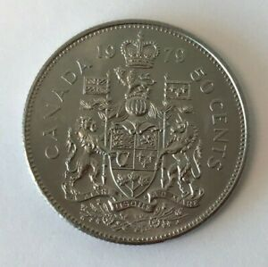 Canada 1979 50 Cent Coat of Arms Half Dollar Coin