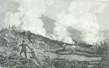 Vesuvius, volcano, lava flow...wood engraving...1895