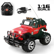 1:16 Electric RC Car Remote Control Off-Road Jeep With Lights Kids Toy Xmas Gift