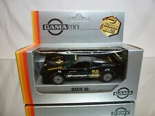 GAMA 1109 BMW M1 RENNAUSFÜHRUNG - E26 - BLACK 1:43 - GOOD CONDITION IN BOX
