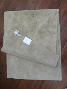 Pottery Barn Classic Organic Loop Bath Mat Rug Extra Large 24 X 64 TAUPE NEW