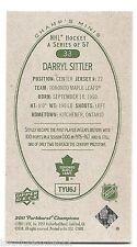 11/12 PARKHURST CHAMPIONS CHAMP'S MINIS GREEN BACK PARALLEL Darryl Sittler #33