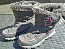 Black and Pink Winter Girls size 3 boots Tu 3M water resistant