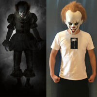 Halloween Cos Clown Stephen King/'s Pennywise Mask Headgear Horror Mask Costume