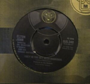 "ELTON JOHN - Lucy In The Sky With Diamonds ~ 7"" Single"