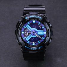 NEW G-Shock Waterproof Sports Men's and Women's Watches Black Purple Ga110-HC1A