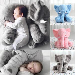 Kinder Baby Elefant Kissen Stofftier Kuscheltier Spielzeug Pillow Geschenk Neu