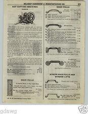 1922 PAPER AD Russwin Key Cutting Machine Diagram Hand Crank Power or Motor