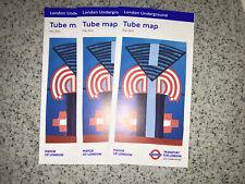 3 X London Underground pocket Tube Map - May 2020 - England UK GB Art Design