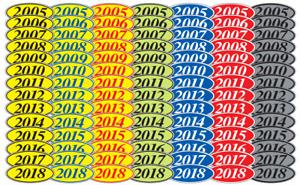 EZ Car Dealer Oval Model Year Stickers Windshield Stickers 4 Digit ovals
