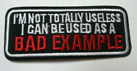 Bad Example Aufnäher Patch  Motorcycle Biker