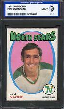 1971 O-Pee-Chee OPC #240 Lou Nanne Minnesota North Stars ISA 9 MINT