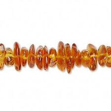"Genuine Baltic Amber 7-10mm Medium Bead Chips 16""Strand"