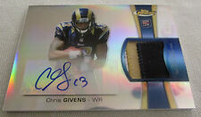 CHRIS GIVENS 3Color FINEST REFRACTOR AUTO JERSEY ROOKIE CARD /1353 ST LOUIS RAMS