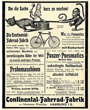 Hermann Prenzlau Hamburg Continental- Fahrrad- Fabrik Historische Reklame v.1903