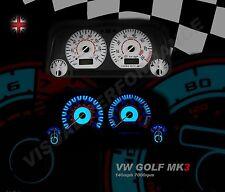 fits Volkswagen golf mk3 GTI 8Vspeedometer dash white lighting dial kit upgrade