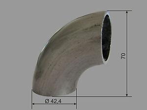 Edelstahl V2A Schweissbogen Ø 42,4 - 90°  Rohr Bogen Geländer Fitting Verbinder