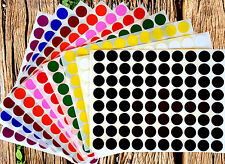 "Stickers Color Coding Labels 1/2"" Rounds Dot Colored Half Inch Circle 880 Pack"