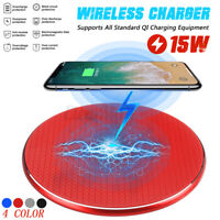 15W max Qi Wireless Charger Charging Dock Mat Pad For Samsung S10 iPhone 8 X XS