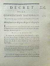 634 LOI & DECRET CONVENTION NATIONALE 1793 LÉGION BELGE LIÉGEOISE PAYEMENT SOLDE