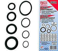 BGS Germany 285-pcs Rubber O-Ring Assortment 18mm-50mm ACID OIL PETROL RESISTANT