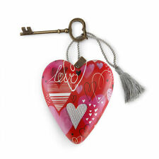 LOVE Art Heart Sculpture Ornament Key to My Heart New Valentine