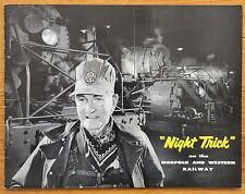 O WINSTON LINK - NIGHT TRICK - 1957 1ST EDITION - FINE COPY