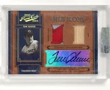 2004 Playoff Prime Cuts TOM SEAVER Cincinnati Reds PATCH BAT AUTO Autograph # /5