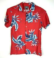 Billabong Lightweight Button Up Casual Floral Shirt Size Men's Medium